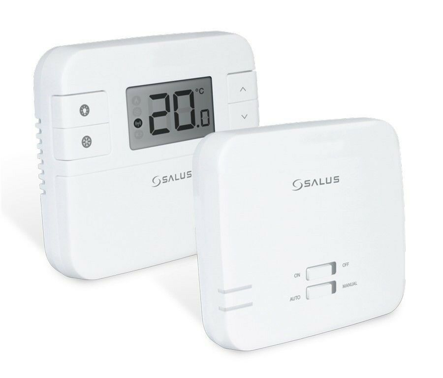 salus rt310 rf wireless room stat central heating control. Black Bedroom Furniture Sets. Home Design Ideas