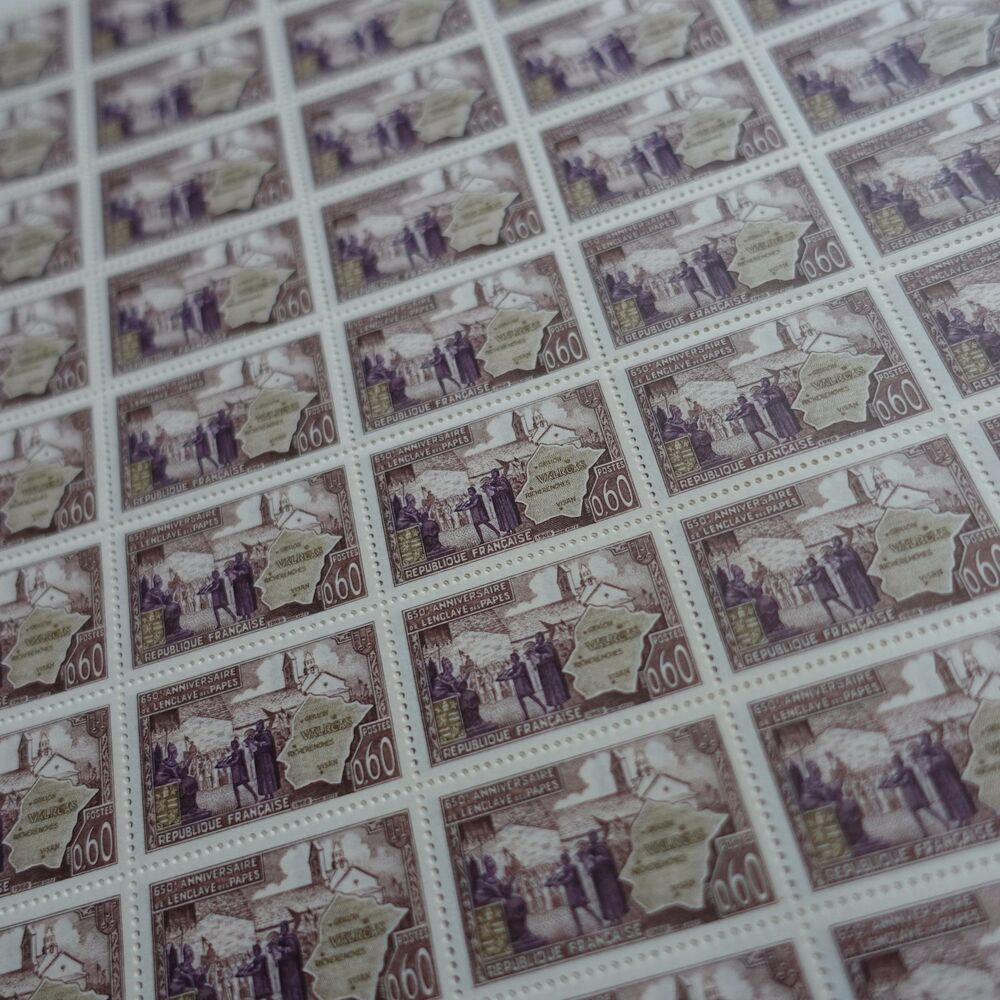 Stamp Timbre France Oblitere N° 1562 Enclave Papale De Valreas Timbres