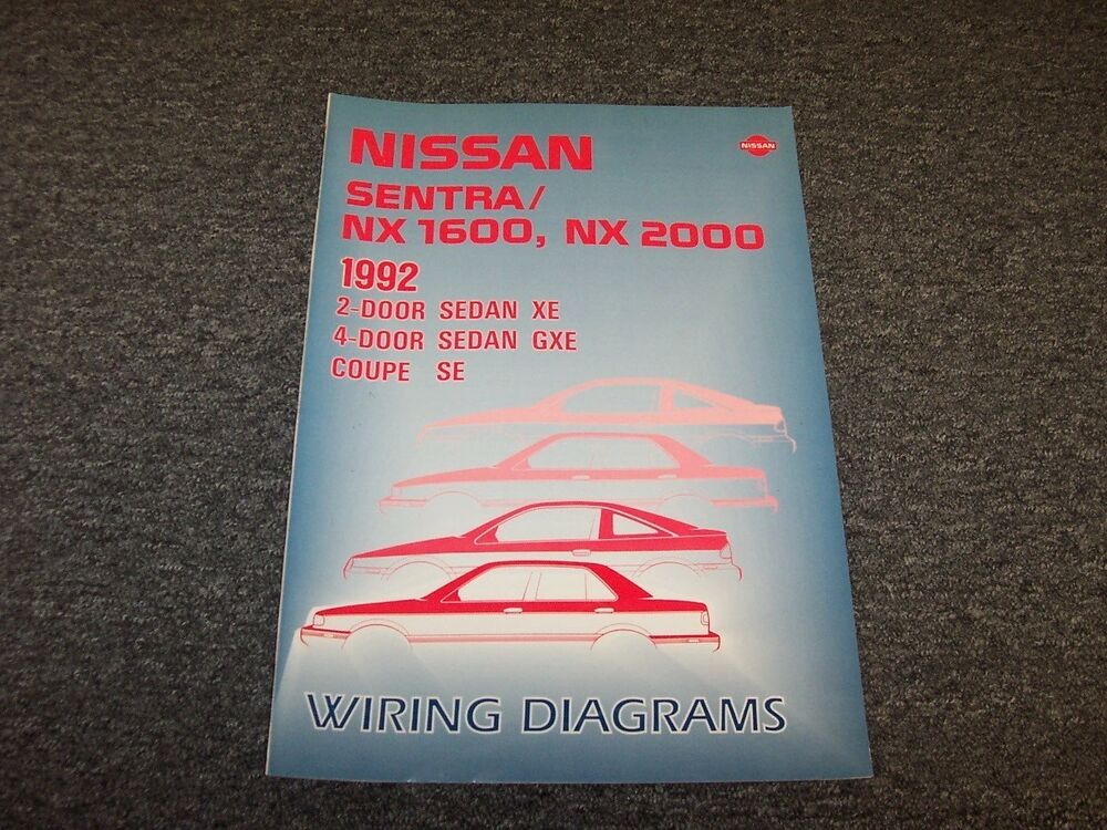 1992 Nissan NX 1600 2000 Electrical Wiring Diagram User Guide Manual on nissan 240sx ka24de vacuum diagram, nissan air conditioning diagram, nissan titan wiring-diagram, nissan maxima repair manual, nissan exhaust system diagram, nissan schematic diagram, nissan electrical parts, nissan transmission repair manual, nissan electrical system, nissan suspension diagram, nissan headlights, nissan repair diagrams, nissan power steering pump diagram, nissan fuse diagram, nissan brakes,