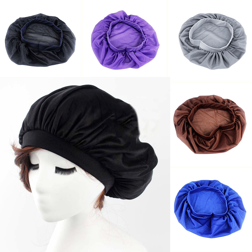 Purple Silk Night Cap For Long Curly Hair Care Scarves
