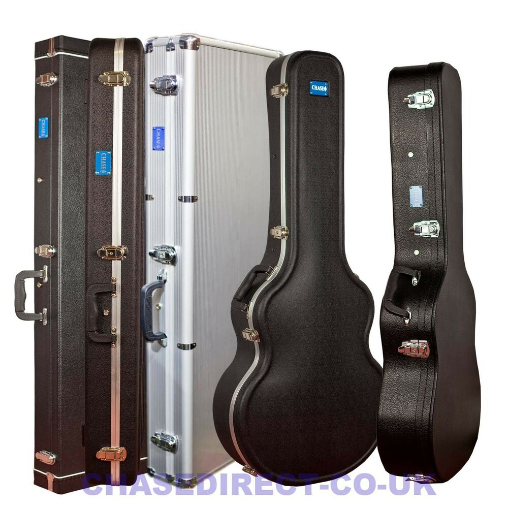 Guitar Cases Ebay Uk : chase guitar hard case hardshell soft interior protection pvc abs flight ebay ~ Hamham.info Haus und Dekorationen