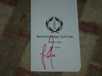 Justin Rose Memorial Signed Muirfield Scorecard