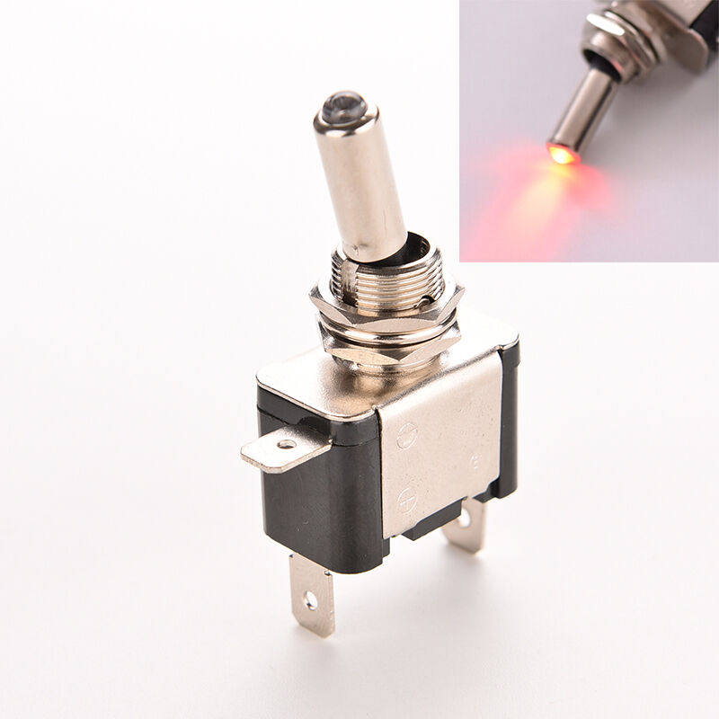 Electronic Toggle Switches : Red led lighted toggle switch rocker v a on off car
