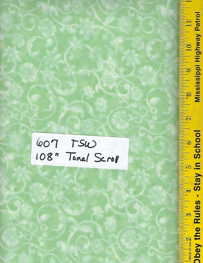 607 Tsw 108 Quot Extra Wide Quilt Backing Bty Tonal Scroll
