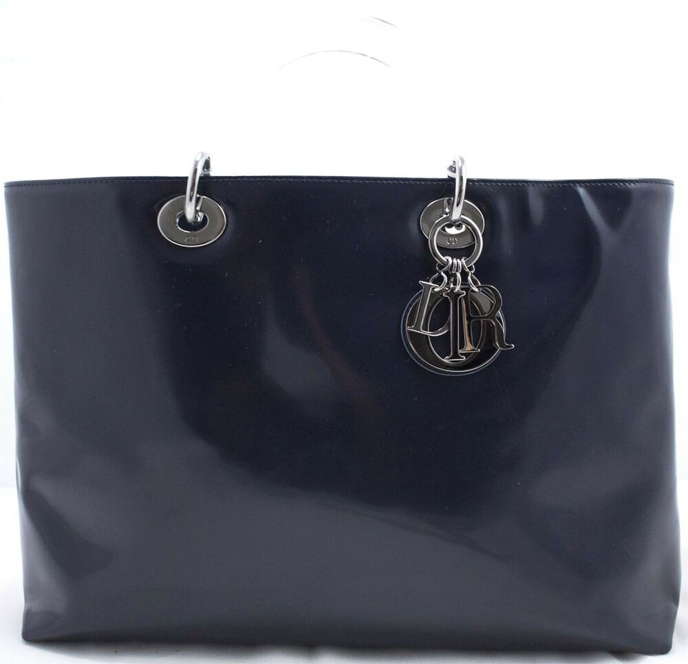 lady dior gm christian dior handbag handtasche tasche patent leather lackleder ebay. Black Bedroom Furniture Sets. Home Design Ideas