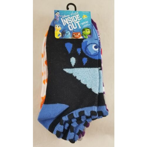 new-disney-pixar-inside-out-5-pr-no-show-socks-joy-anger-disgust-fear-sadness