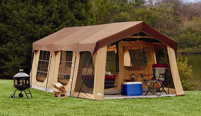 Largest Family Camping Tents : Large person family camping tent rooms porch wheeled