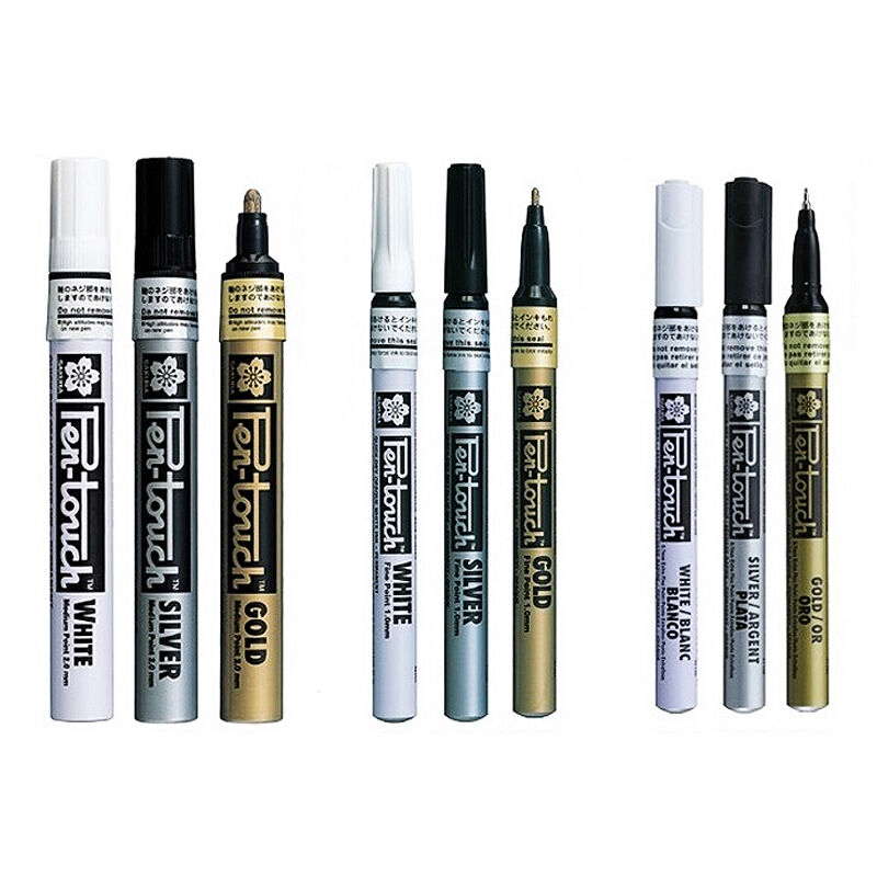 Sakura Calligraphy Pen Touch Paint Marker Pens Gold Silver