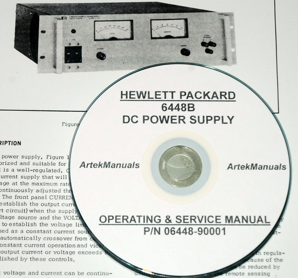 Hewlett Packard Operating & Service Manual for the 6448B DC Power Supply |  eBay