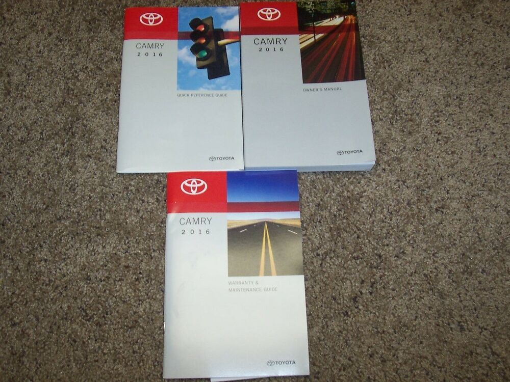 2016 toyota camry owners manual