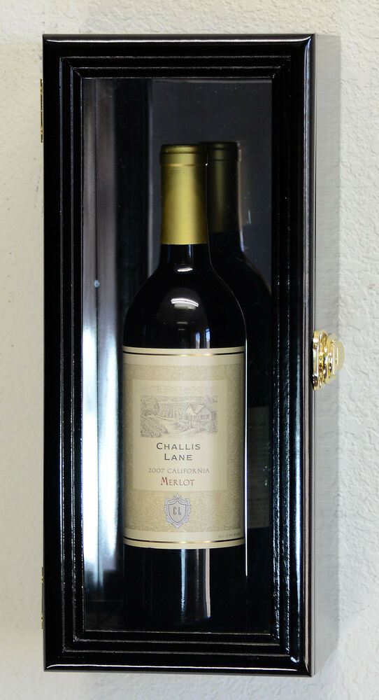 Single Wine Champagne Bottle Wall Display Case Cabinet