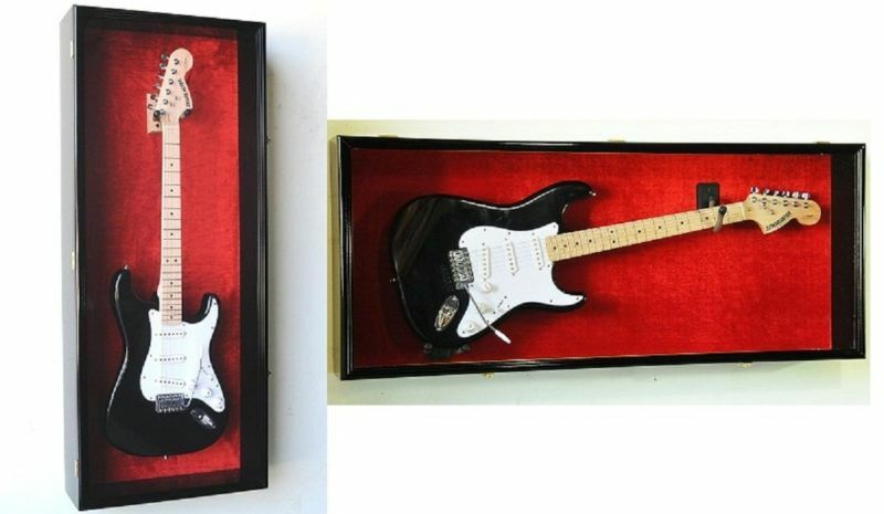 Horizontal Or Vertical Guitar Display Case Cabinet Wall