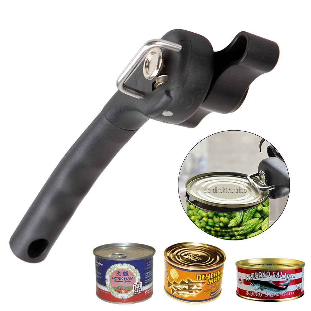 professional manual can opener smooth edge side cut tin jar bottle kitchen ebay. Black Bedroom Furniture Sets. Home Design Ideas