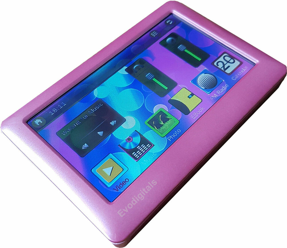"""I Like The New Touch Of Pink In: NEW EVODIGITALS PINK 32GB 4.3"""" TOUCH SCREEN MP5 MP4 MP3"""