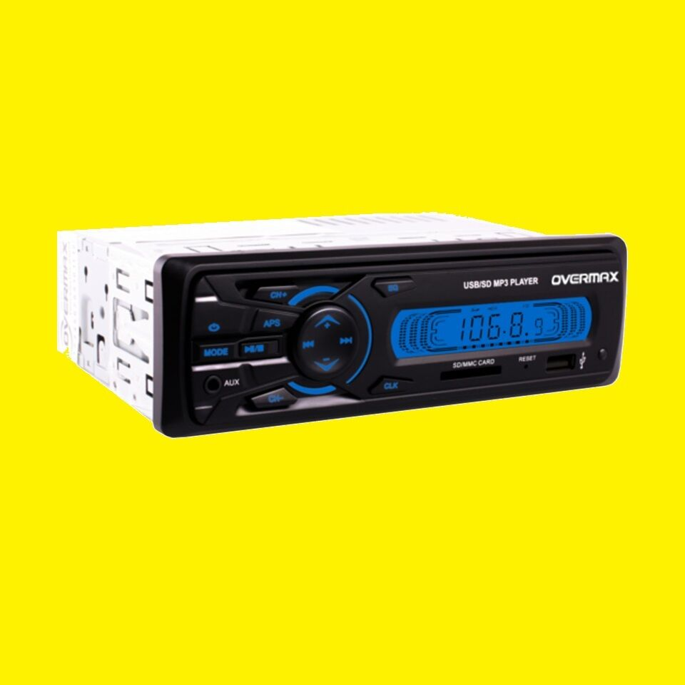 autoradio 1din sd kartenslot usb mp3 aux in lcd display. Black Bedroom Furniture Sets. Home Design Ideas