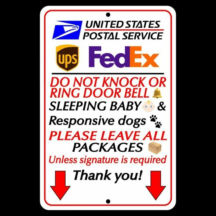 Do Not Knock Or Ring Bell Sleeping Baby Leave All Packages