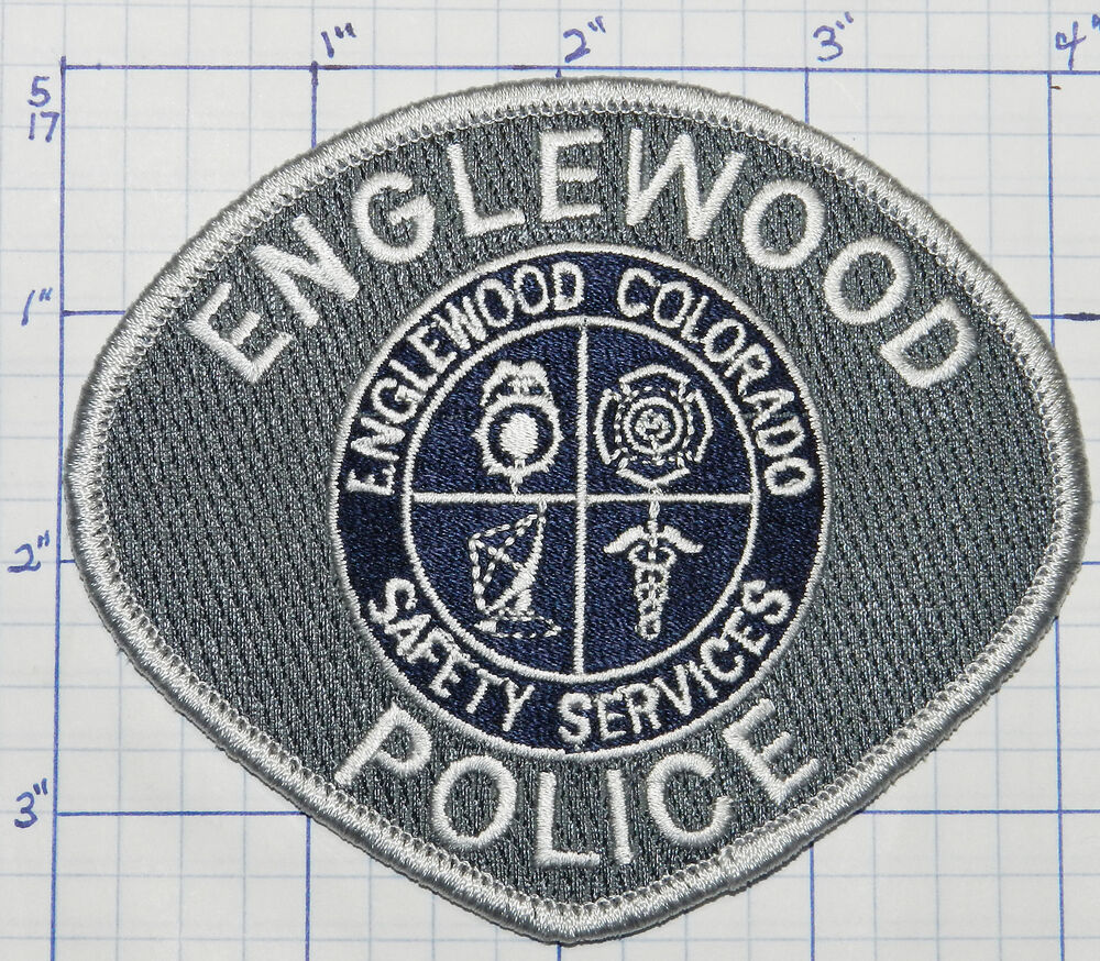 COLORADO, ENGLEWOOD POLICE DEPT WHITE EDGE PATCH