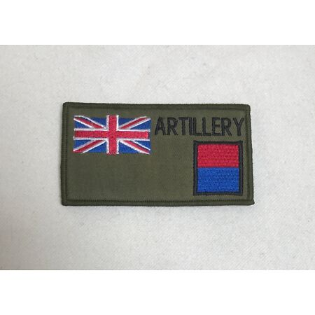 img-Royal Artillery Zap Number & Blood Group Badge, Army Military Patch, Hook Loop