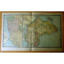 Antique Map 1886 AFRICA South Africa EGYPT Arabia UPPER NUBIA Abyssinia TUNIS