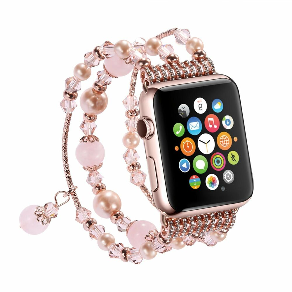 Pearl Beads Bracelet Watch Band Strap For 42mm 38mm Apple