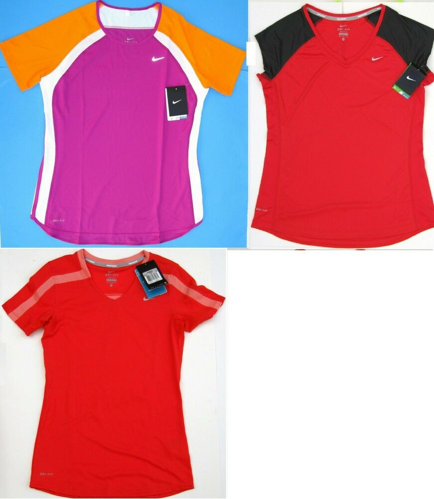 02124ff7a8c0 Details about New 1 Nike DRI-FIT Running Shirt Tee Top Women Selected  Colors and Sizes