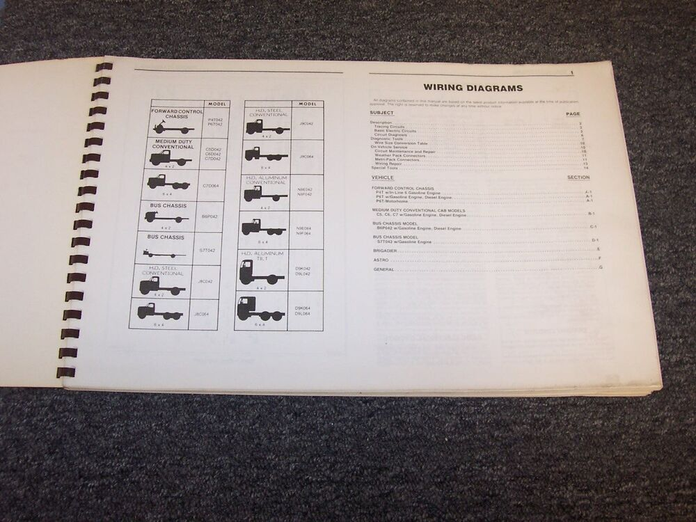 1988 Gmc Topkick C5500 C6500 C7500 C8500 Truck Electrical Wiring Diagram Manual
