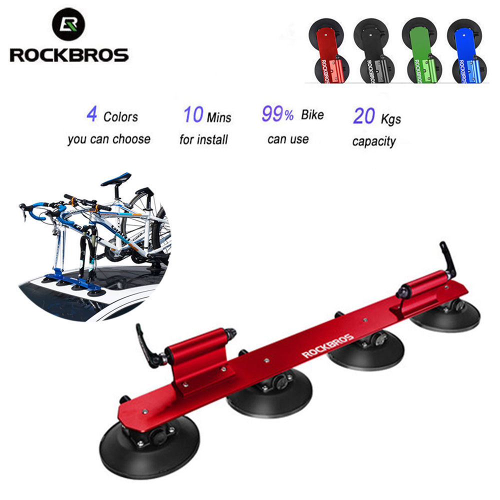 Rockbros Bike Car Roof Rack Suction Rooftop Carrier Quick