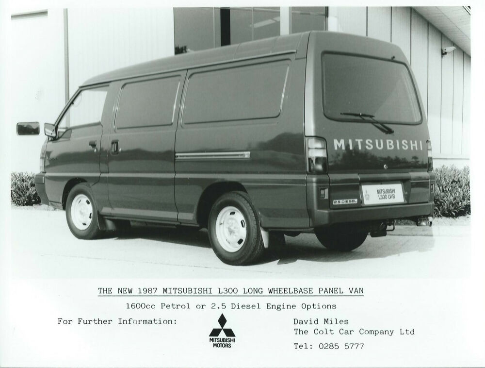 mitsubishi l300 panel van long wheel base press photograph 1987 ebay. Black Bedroom Furniture Sets. Home Design Ideas
