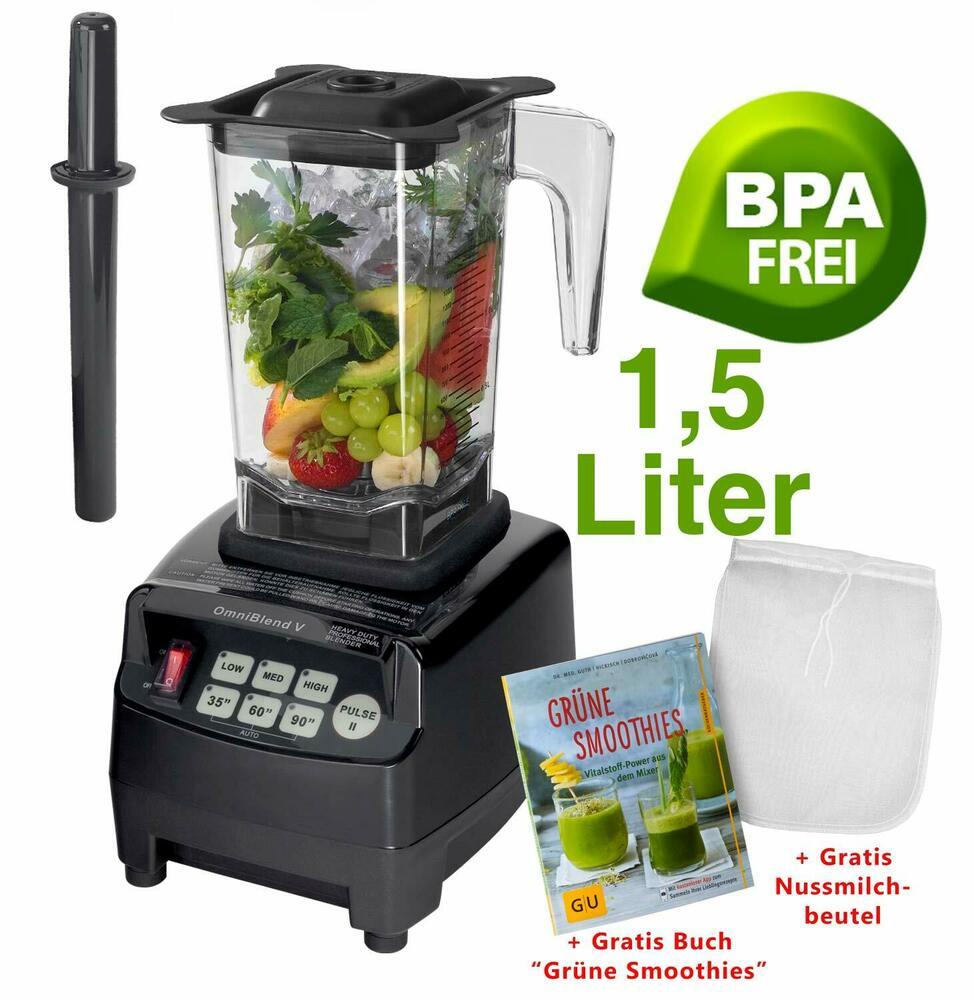 profi yayago jtc omniblend mixer smoothie maker 1 5 l blender crusher schwarz 4055047757901 ebay. Black Bedroom Furniture Sets. Home Design Ideas