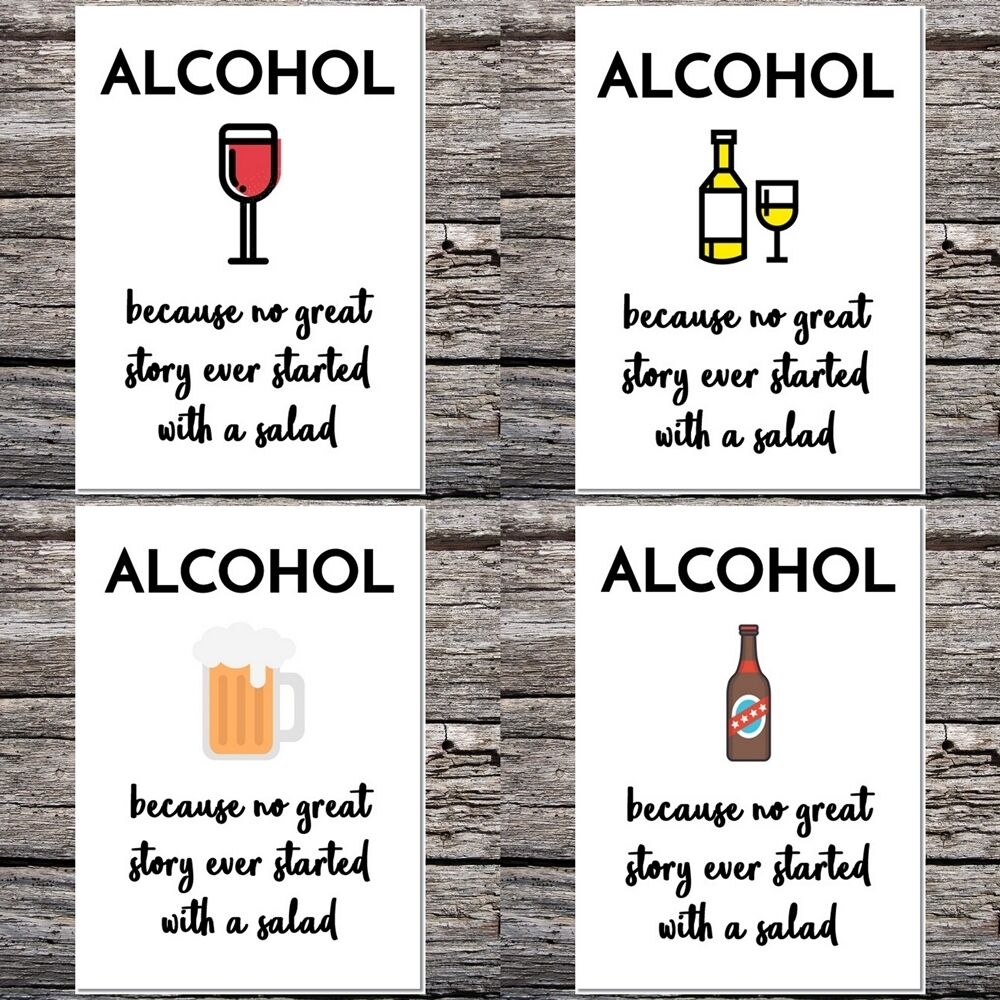 Funny Birthday/greetings/blank Card Alcohol Drinking Party
