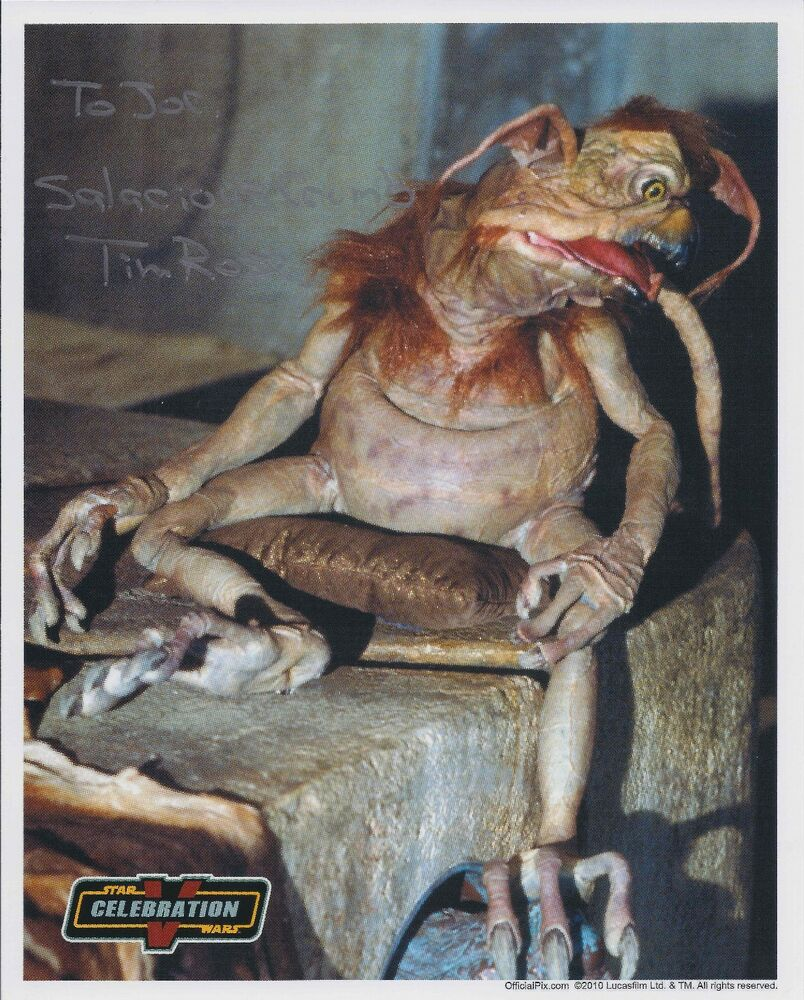 tim rose salacious crumb autograph signed official pix 8x10 star wars cv photo