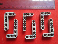 LEGO TECHNIC 6 x Thick Lift Arm Beam 3 x 5 L Shape Bent - various GREY 32526