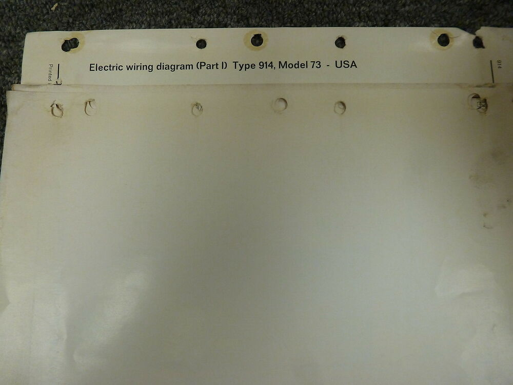 details about 1973 porsche 914 coupe electrical wiring diagram service  manual 1 7l 1 8l 2 0l