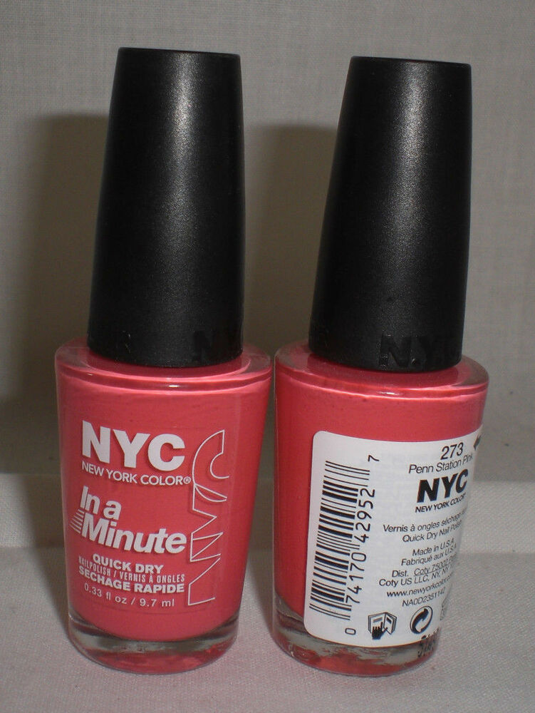 NYC New York Color Quick Dry Nail Polish Penn Station Pink Baby ...