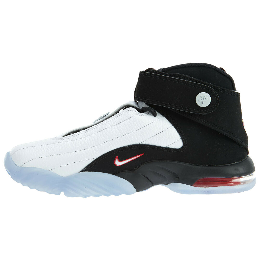 Details about Nike Air Penny 4 True Red Mens 864018-101 White Black  Basketball Shoes Size 8 6364e5992