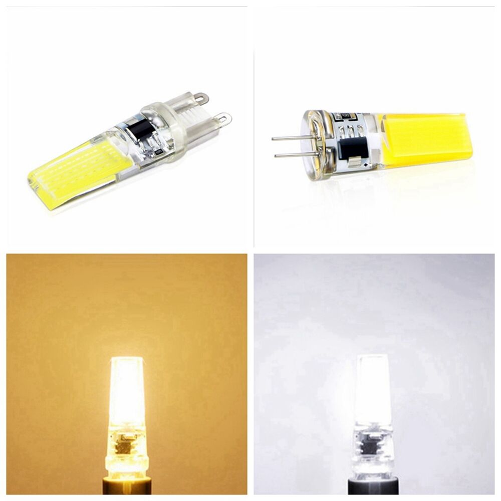 home led g4 g9 lampe birne ac dimmen 220v 6w 9w cob lichter scheinwerfer wei ebay. Black Bedroom Furniture Sets. Home Design Ideas