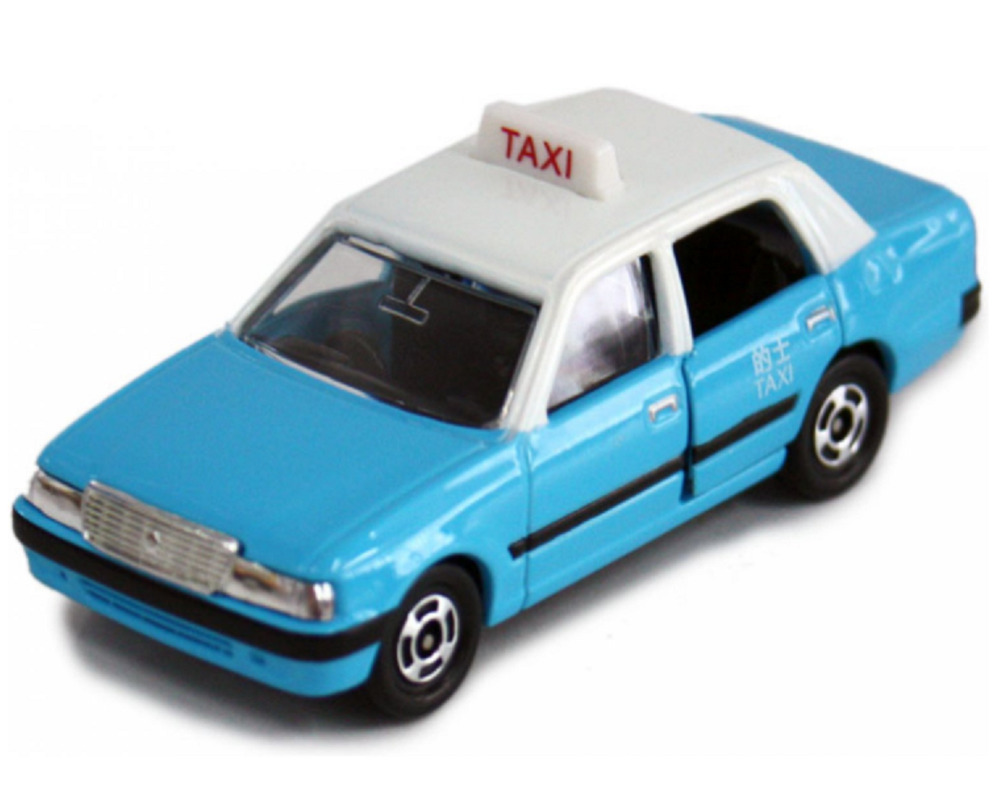 HONG KONG BLUE TAXI, TOYOTA CROWN COMFORT TAXI, TAKARA TOMY TOMICA ...