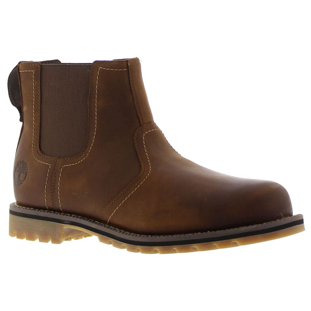 Timberland Larchmont Chelsea Brown Mens Leather Twin
