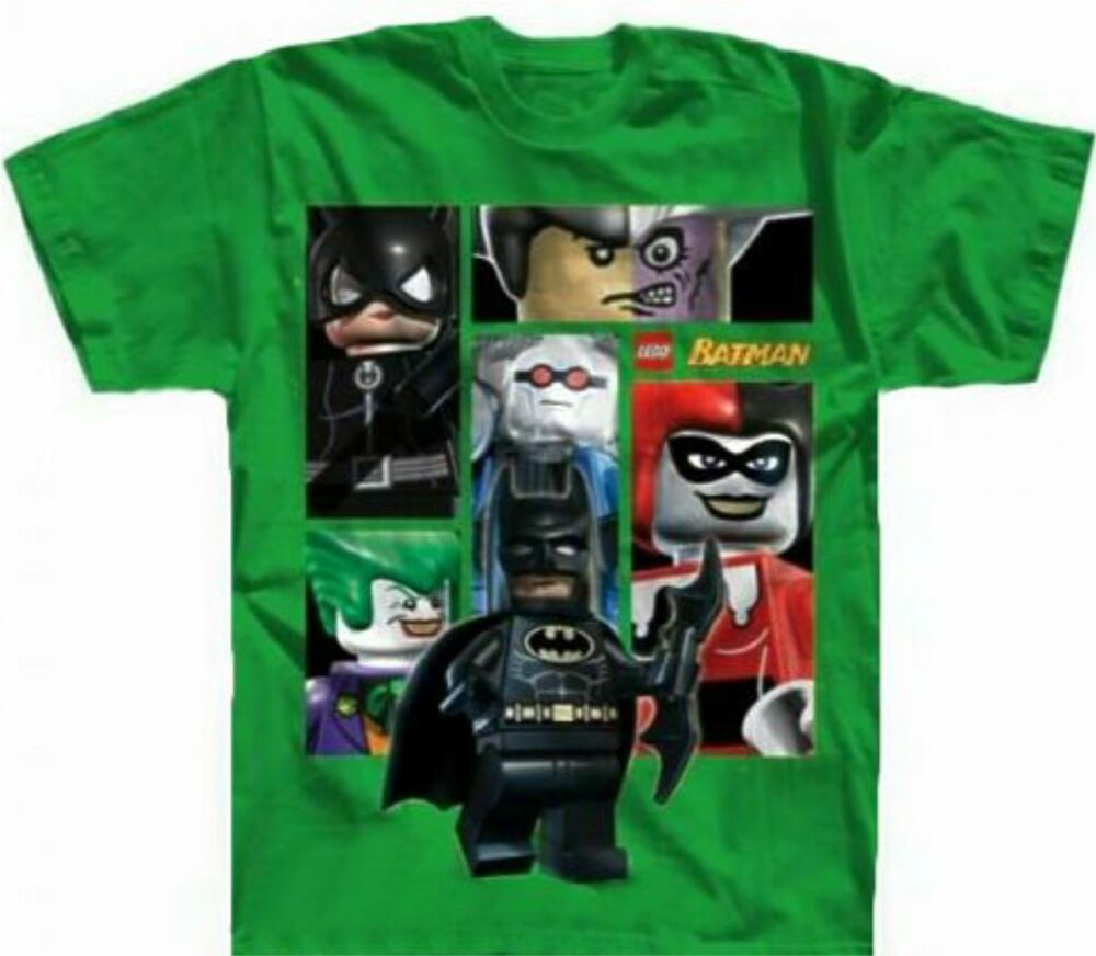 Lego Batman The Movie Green Child Boys Size 8 Medium Tee Shirt New Super Heroes Ebay