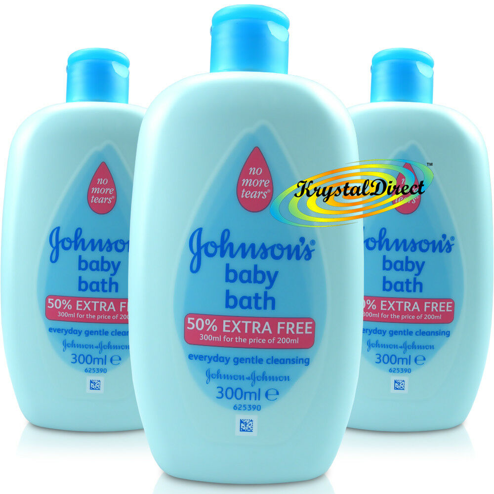 3x Johnsons Baby Bath Everyday Gentle Cleansing 300ml - No More ...