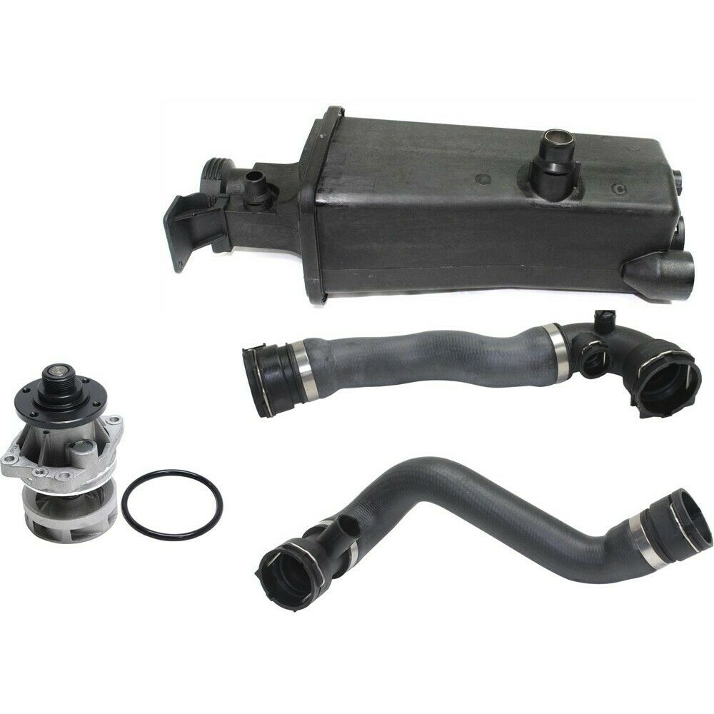 Bmw E46 Water Pump Coolant  Expansion Tank Upper Lower Radiator Hose kit set