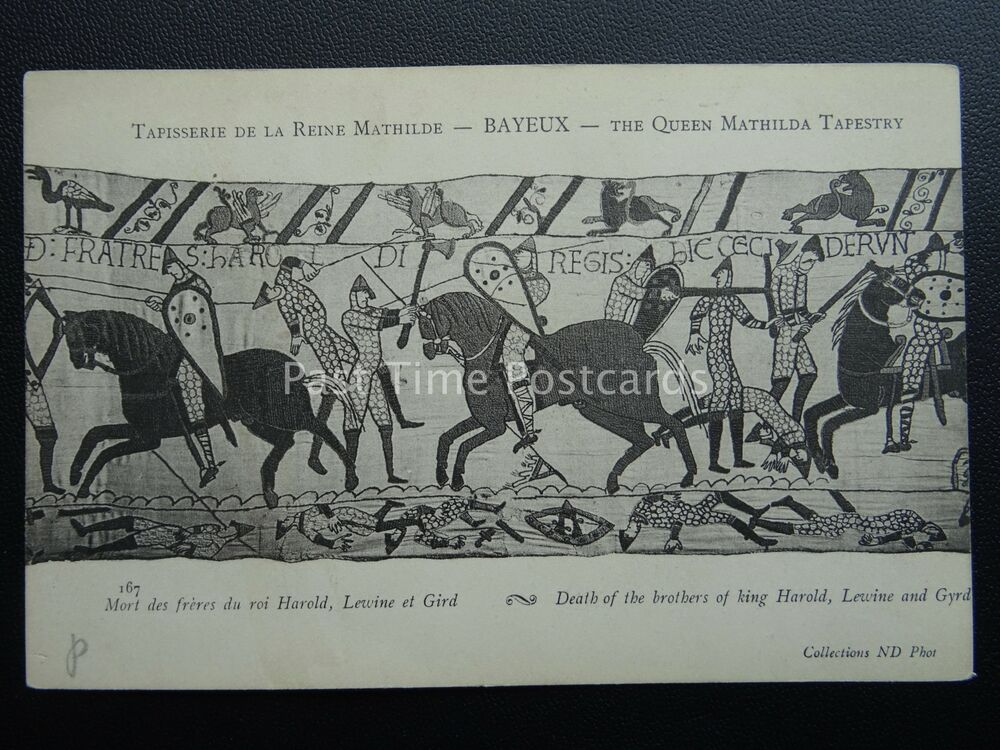 Bayeux Tapestry Death Of Brother Of King Harold Old French Postcard