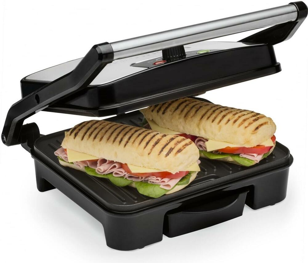 Andrew James Panini Press Grill Toasted Sandwich Toastie Maker ...