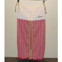 Baby Martex Blossoms Pink Corduroy Green Plaid Diaper Stacker Holder Decor