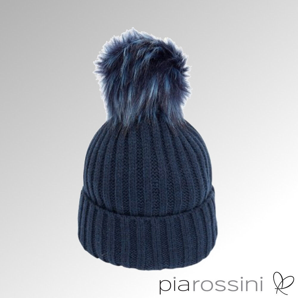 Details about Pia Rossini Hat Chloe Navy Blue Beanie Removable Pom Pom  (CHL004) 58d1a27fb7f