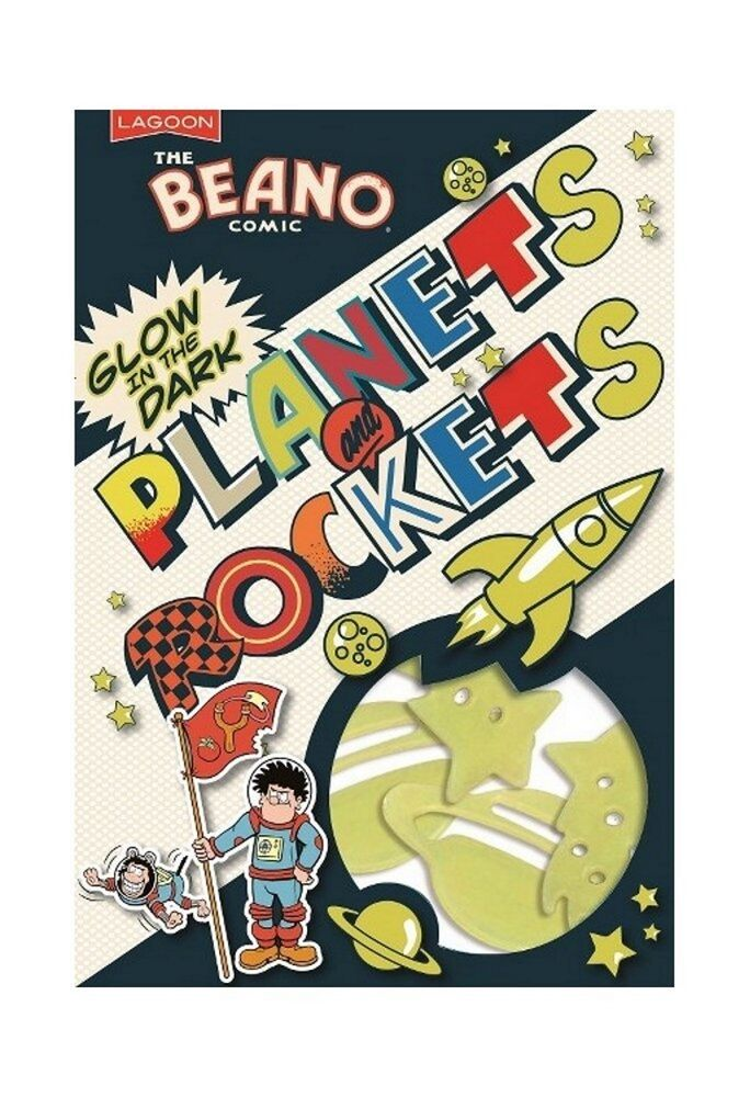 Beano Comic Glow In The Dark Planets Rockets Spaceships Wall Ceiling