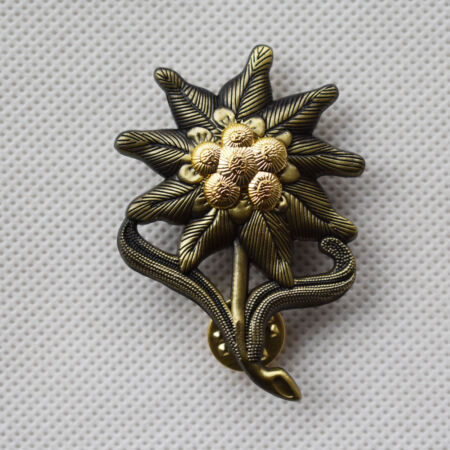 img-WWII GERMAN EM EDELWEISS MOUNTAIN INFANTRY CAP BADGE MEDAL -50023