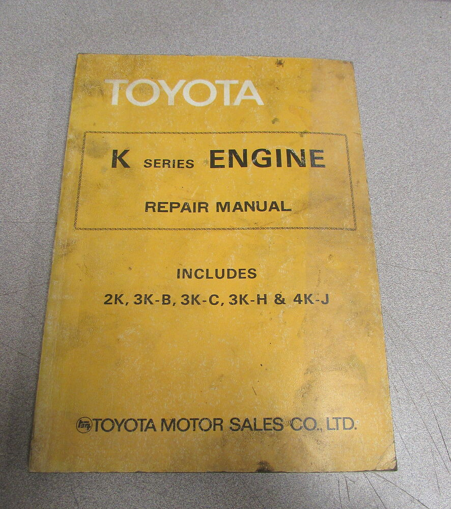 1978 toyota k series engine service repair manual 2k 3k b 3k c 3k h rh ebay com toyota 3k engine repair manual free download KP61 Toyota Engine Swap