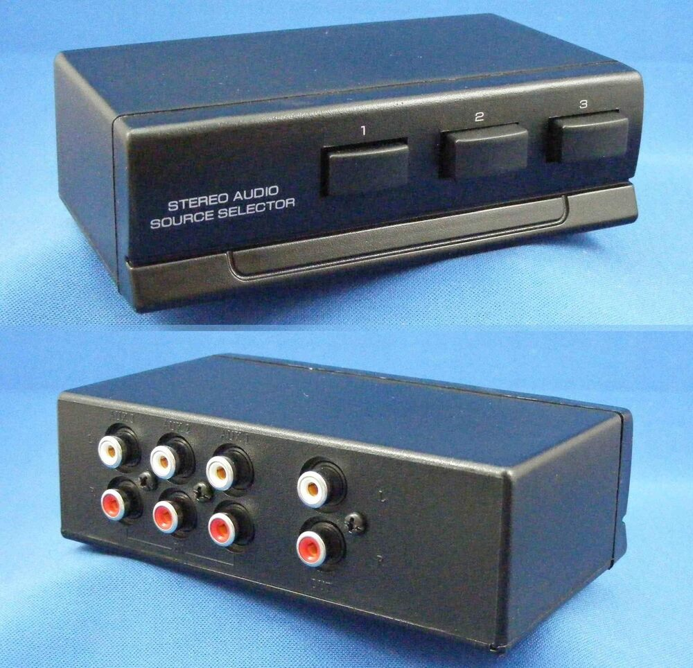 stereo 3 way audio source selector switch box 74 1310 ebay. Black Bedroom Furniture Sets. Home Design Ideas