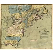 Map of North America 1771  - Early American Colonies - 16x20